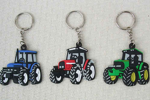 Tractor Keyring Blue Red Green