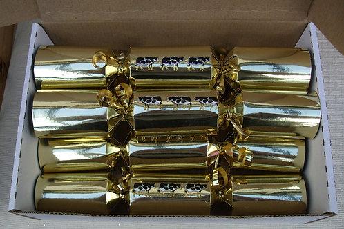 "6 x Gold Crackers - Medium 10"""