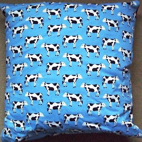 Light  Blue Cow Cushion