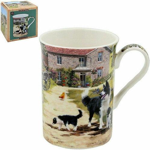 Collie & Sheep Mug - Boxed Gift