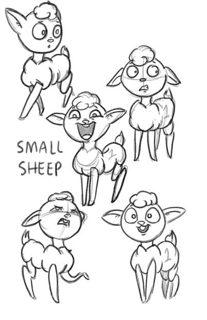 """SMALL SHEEP"" CHARACTER DESIGN"