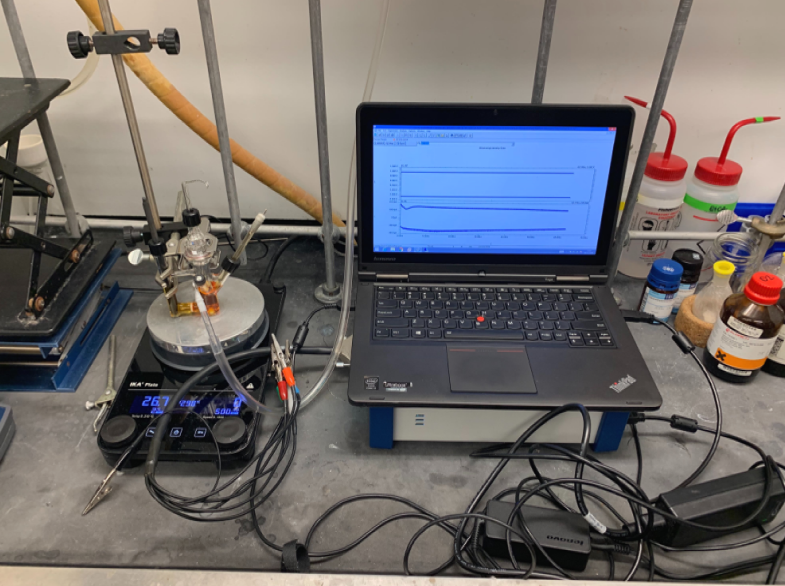 Sample electrochemical setup