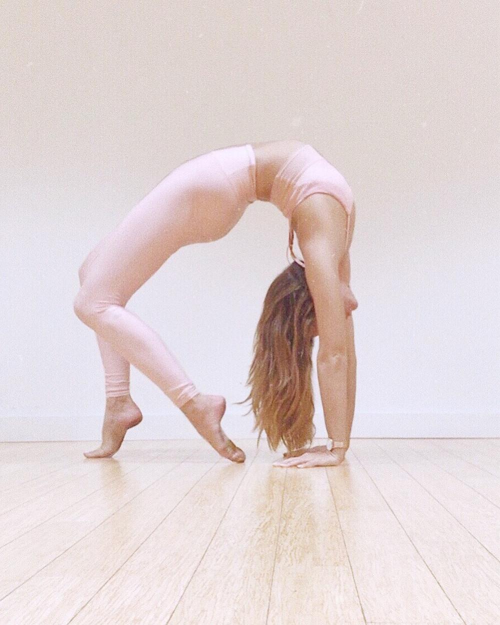 Katie Baki Yoga Instructor in backbend