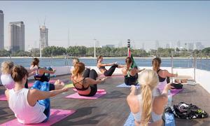 Yoga Yacht Dubai with instructor Sarka Apperloo