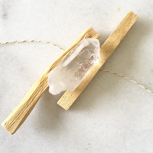 Palo Santo + Quartz Cleansing Bundle
