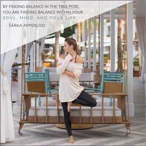 Tree pose tutorial by Sarka Apperloo