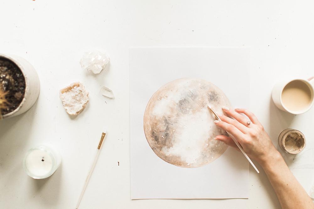 Katelyn Morse Moon Artwork @katejerryy