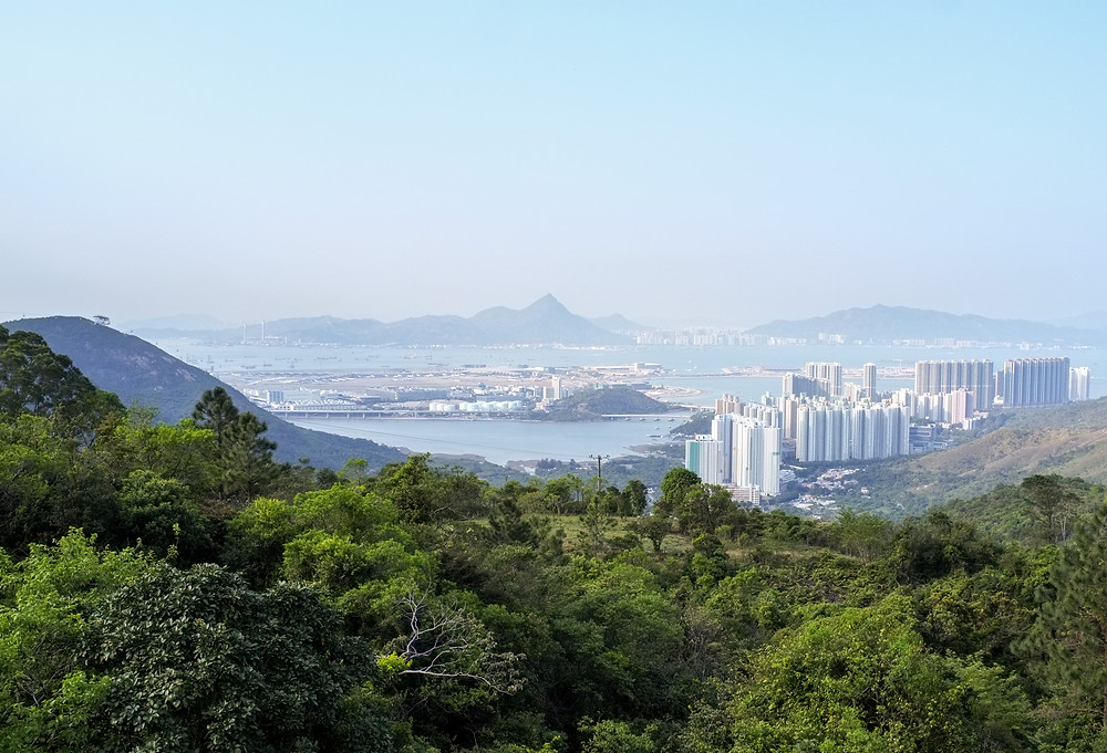 View to Tung Chung from Fa Hong Monastery