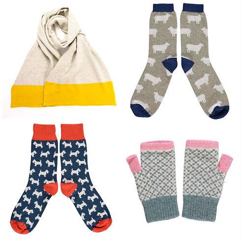 キャサリンタフ,ニット,マフラー,手袋,靴下