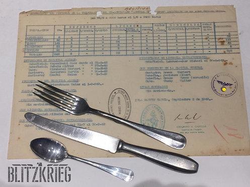 Conjunto de Talheres da Marinha Kriegsmarine ww2