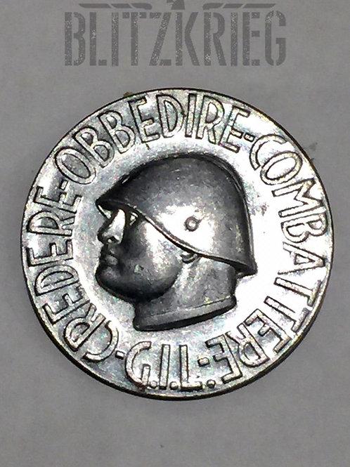 Badge Italiano comemorativo de Mussoline