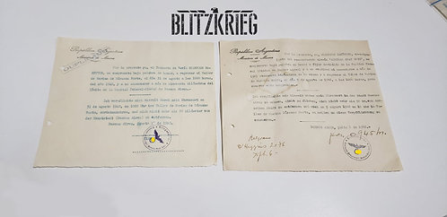 Documento Alemão Graf Spee ww2 valor da uni.