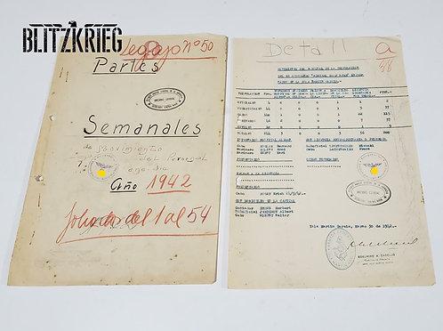 lote Documentos Marinheiros do Graf Spee ww2