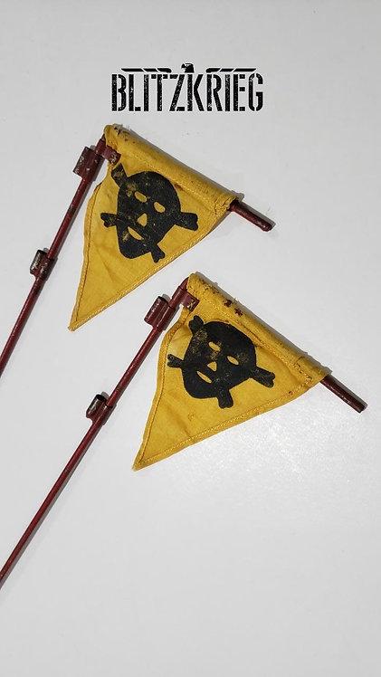 Bandeira de sinalização alemã campo minado ww2