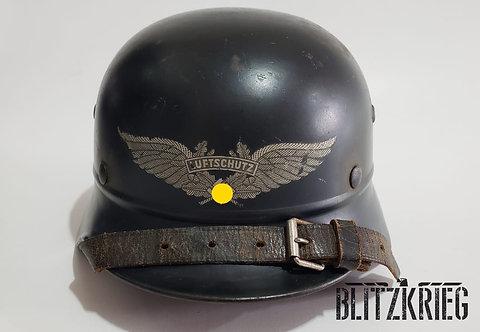 Capacete Alemão M35 Beadead Luftschutz ww2
