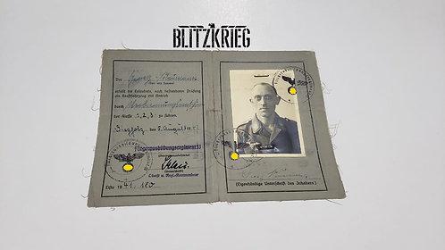 Carteira de militar de Flak Luftwaffe ww2