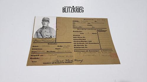 Carteira de Registro SA alemã ww2