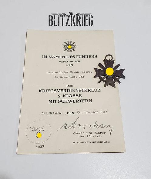 Cruz de Mérito de guerra II classe com espadas