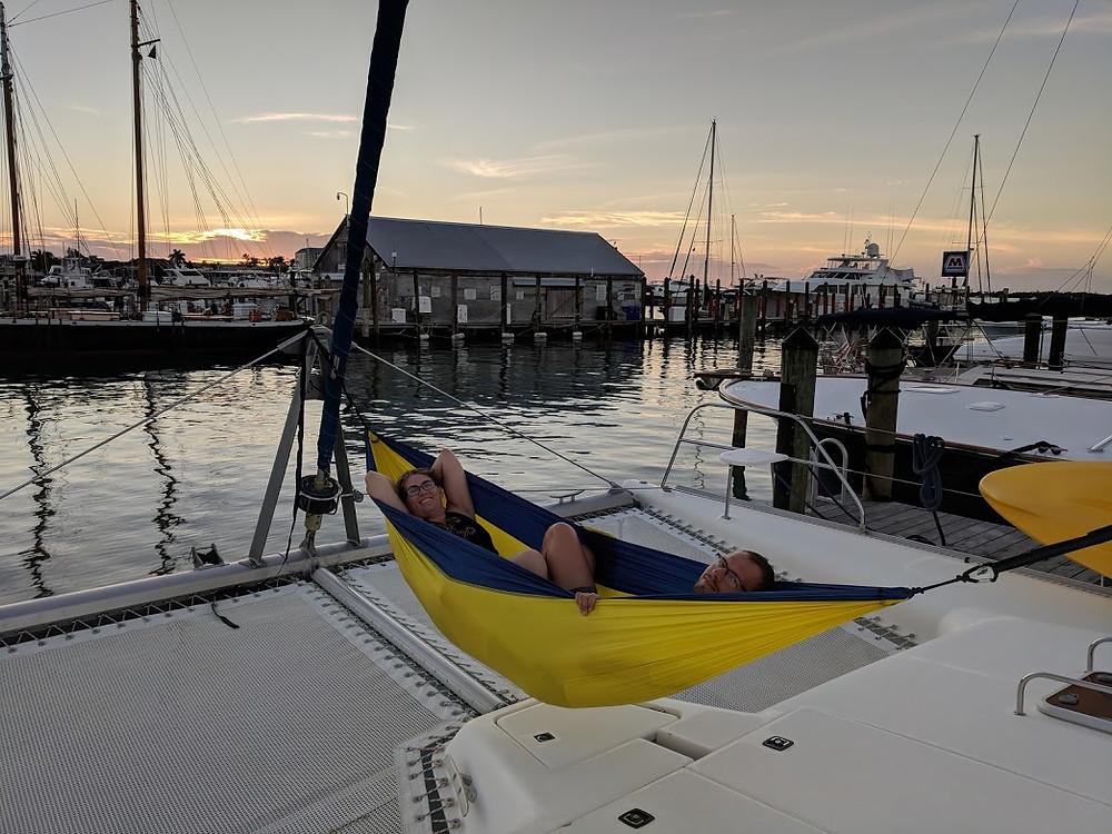 Ryan and Mel on Kuma Too in Key West