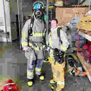 sailing kuma too, kuma too, fire fighting, fire training, fire safety