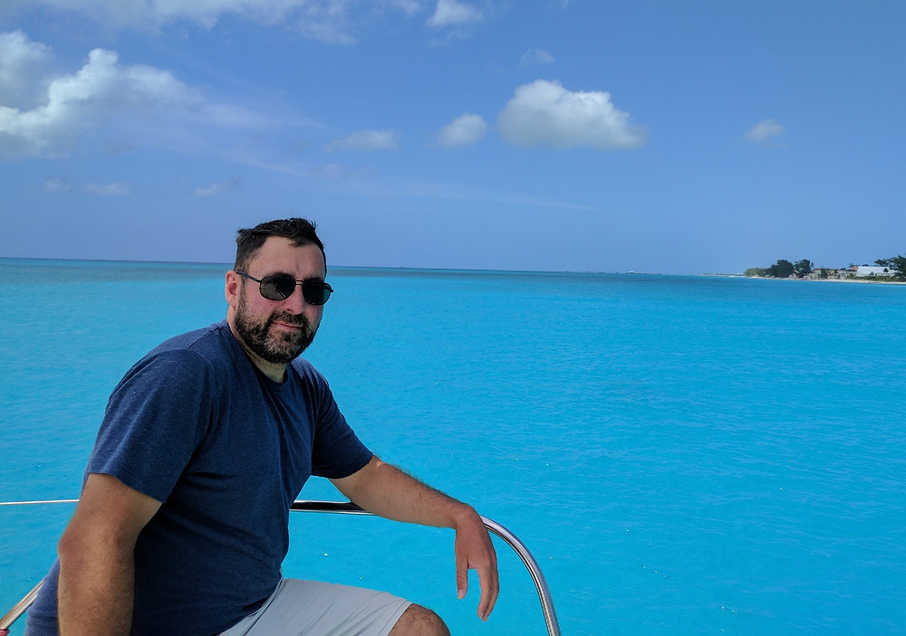 Dave on Kuma Too in the Bahamas