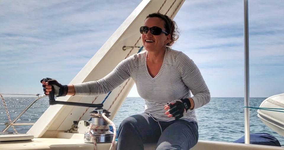 Adjusting the Mainsail on Kuma Too