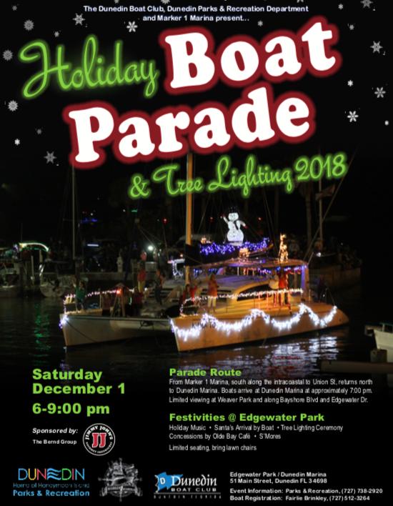 2018 Dunedin Holiday Boat Parade Flyer