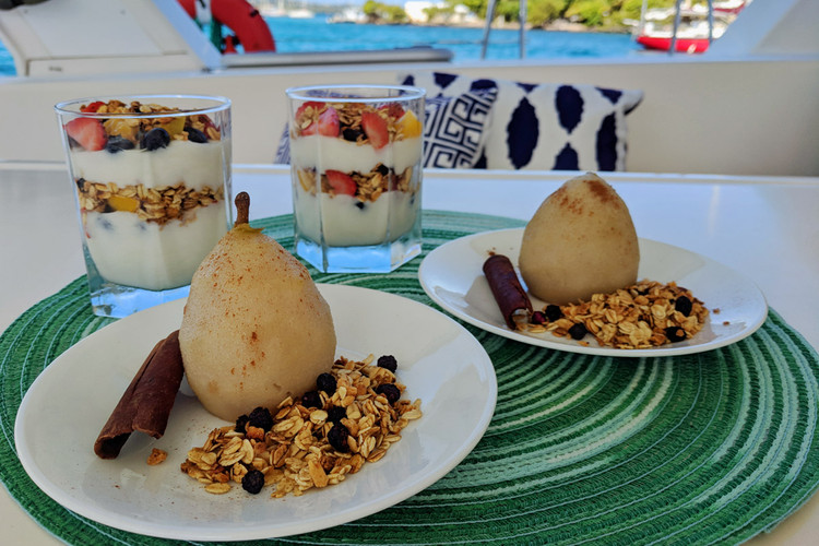 Parfaits with Poached Pears