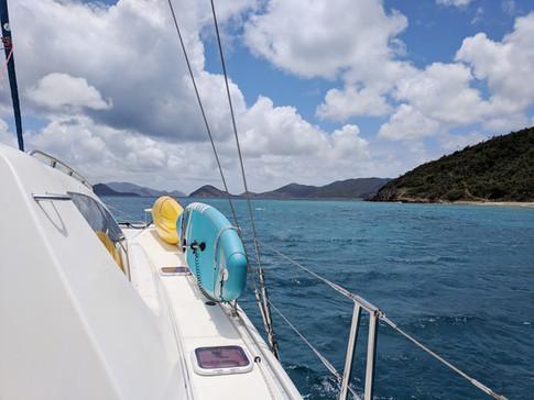 Passing Lovango Cay