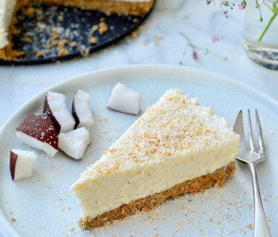 No bake kokos cheesecake