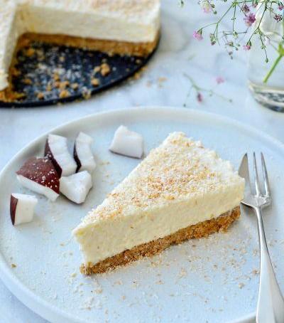 No bake kokos cheesecake