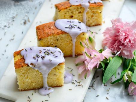 Lavendelcake met limoncello