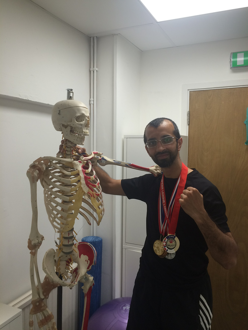 Karateka Meenhaz Janar with all his recent medals