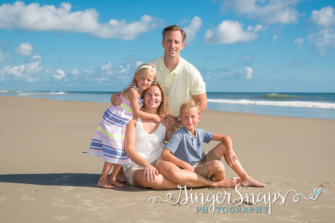 Outer Banks Beach Portraits   Early Morning Blue Skies