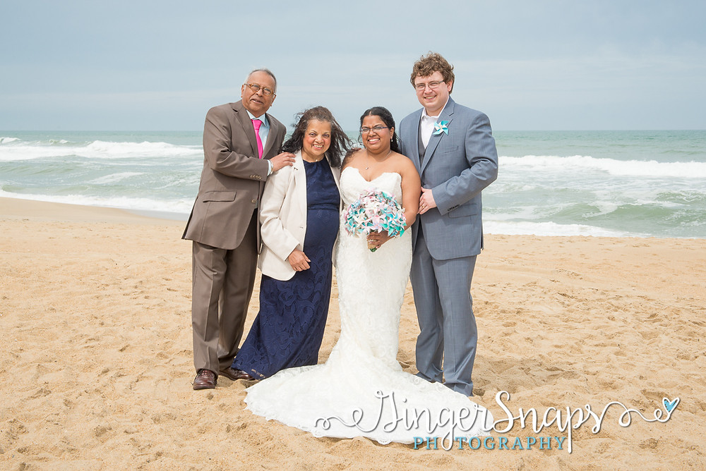 family wedding portraits