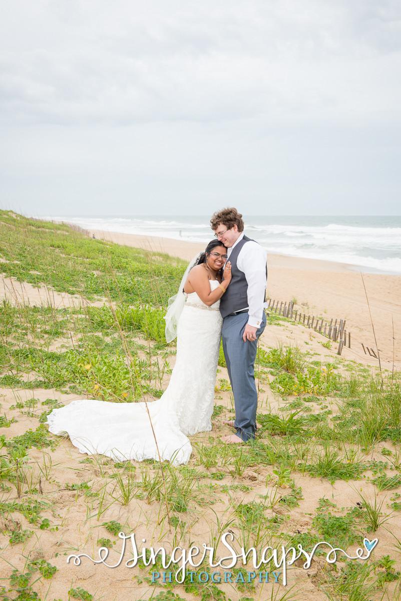 wedding beach portraits