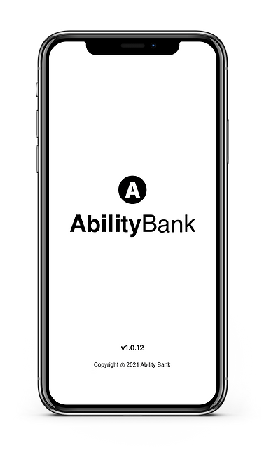 AbilityBank App - Initial splash screen.