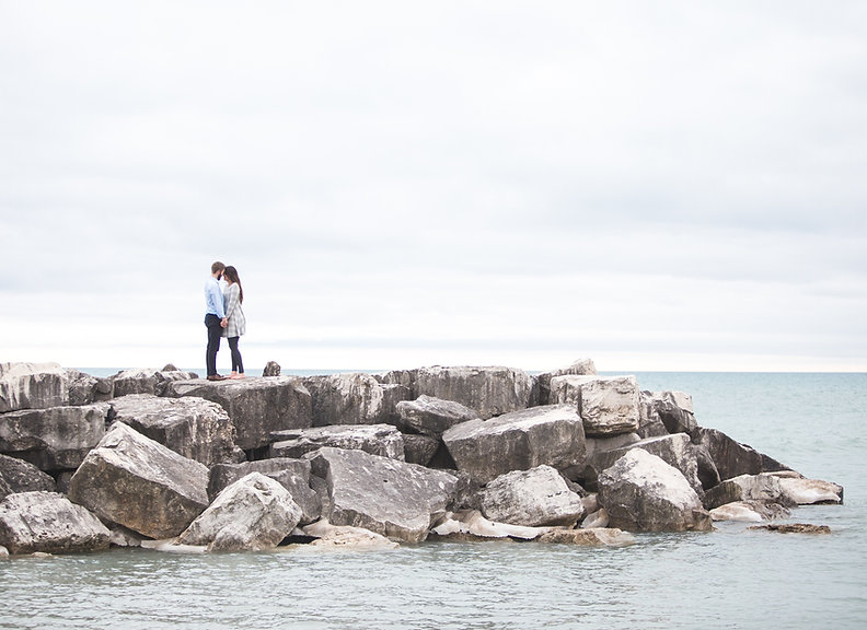 Kissing on a Pier