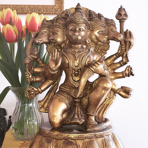 Beautiful Panchamukhi Hanuman, brass