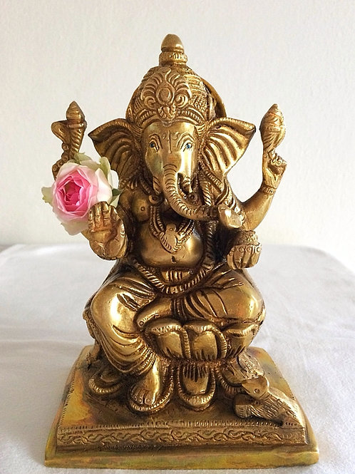 Ganesh Statue, brass, 17.5 cm