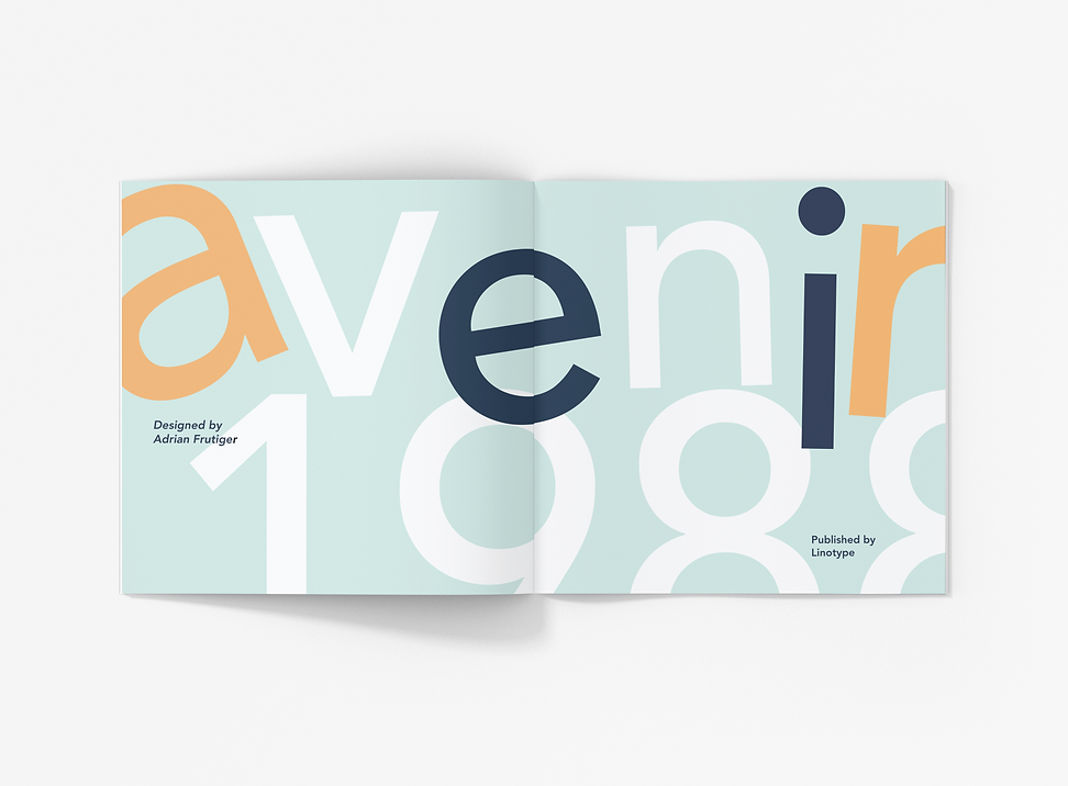 School Project_ Avenir Type Catalog and