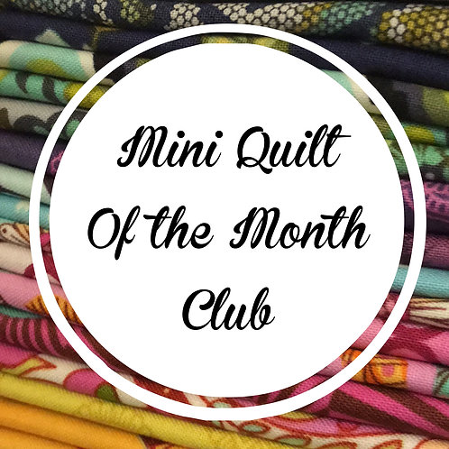 Mini Quilt of the Month Club (January)