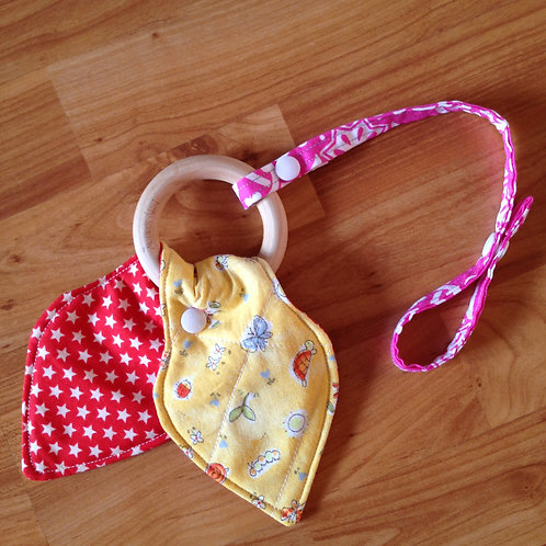 Teething Ring with Strap
