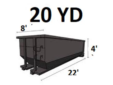 20 Cu. Yard Dumpster - Concrete