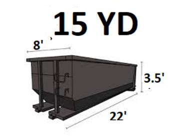 15 Cu. Yard Asbestos Dumpster