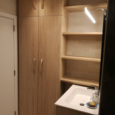 Bathroom cabinet and shelves