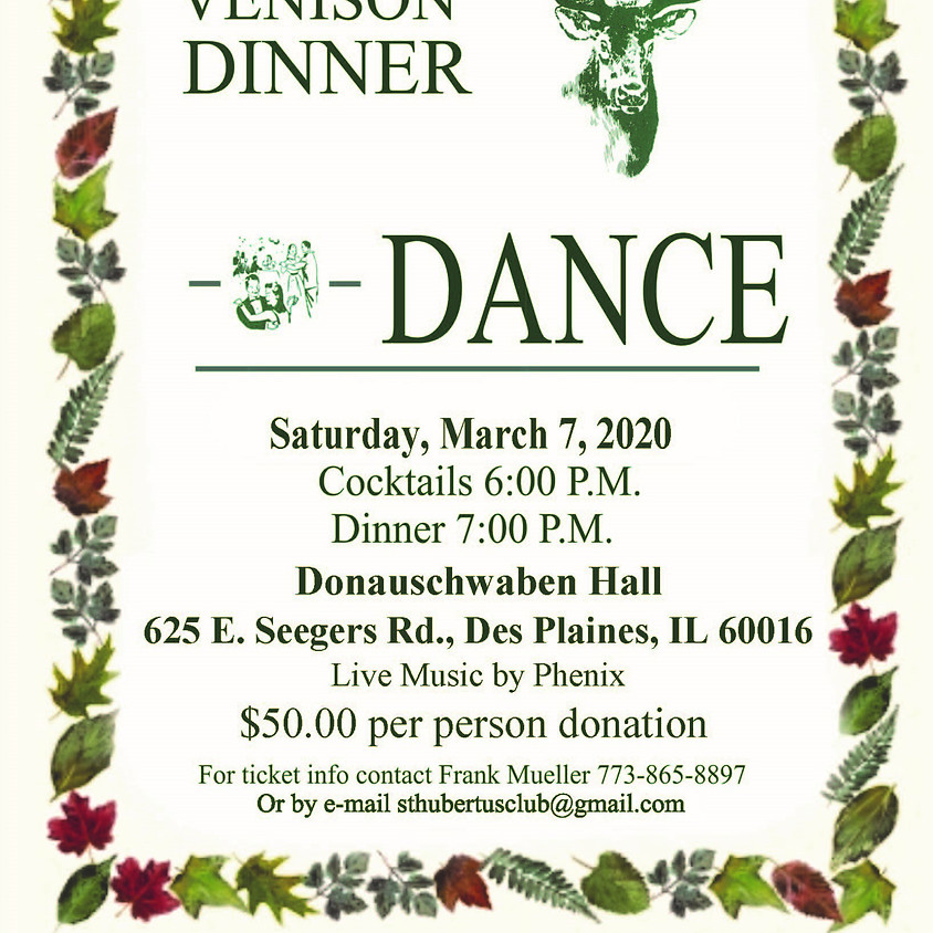 St. Hubertus Club Annual Fundraiser Dinner and Dance 2020