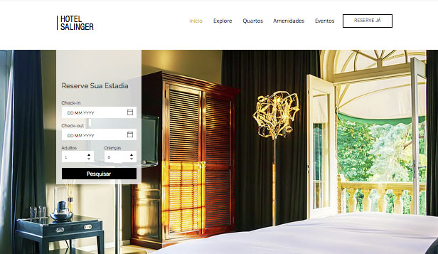 Hotéis website templates – Hotel Moderno