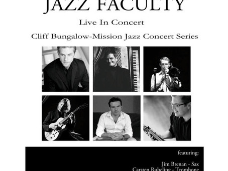 MRU jazz faculty concert at Cliff Bungalow-Mission on Wednesday January 8, 2014