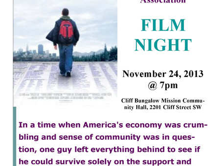 Movie Night Sunday, November 24, 2013, 7 pm